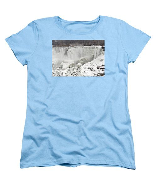 Women's T-Shirt (Standard Cut) featuring the photograph American Falls by JT Lewis
