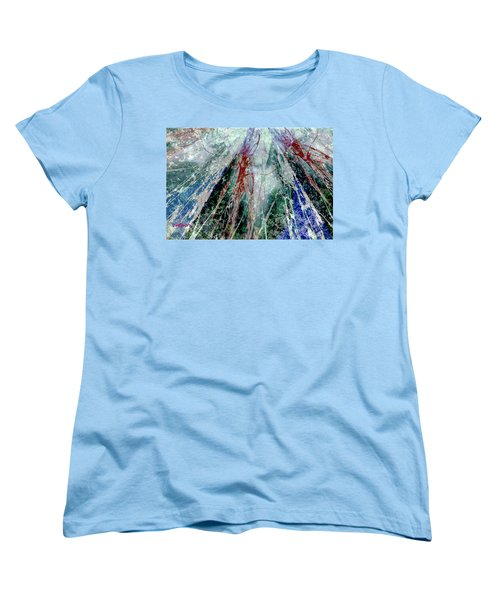 Amid The Falling Snow Women's T-Shirt (Standard Cut) by Seth Weaver