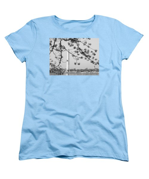 Women's T-Shirt (Standard Cut) featuring the photograph Amongst The Cherry Blossoms by Emmy Marie Vickers