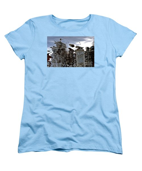 Women's T-Shirt (Standard Cut) featuring the photograph Amsterdam Reflections 2 by Andy Prendy