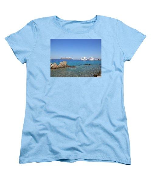 Anchored Ships Women's T-Shirt (Standard Cut) by Pema Hou
