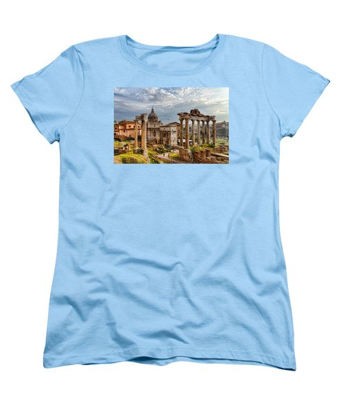 Ancient Roman Forum Ruins - Impressions Of Rome Women's T-Shirt (Standard Cut)