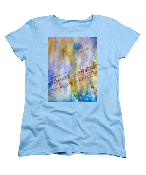 Women's T-Shirt (Standard Cut) featuring the painting Andante Con Moto by Sandy McIntire