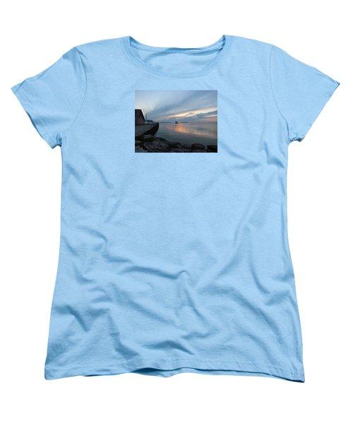 Anderson Dock Sunset Women's T-Shirt (Standard Cut) by David T  Wilkinson