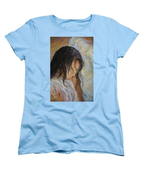Angel Face Women's T-Shirt (Standard Cut) by Nik Helbig