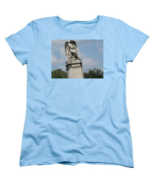 Women's T-Shirt (Standard Cut) featuring the photograph Angel Made From Stone by Aaron Martens