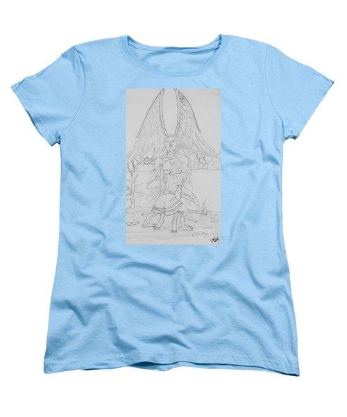 Angel Of God Struggle Women's T-Shirt (Standard Cut) by Roberta Byram