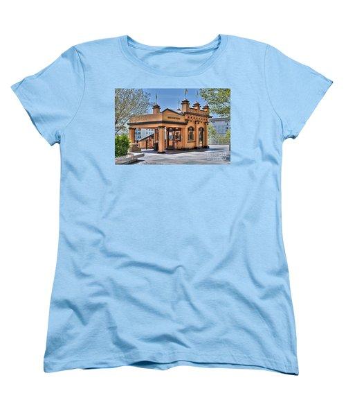 Angels Flight Landmark Funicular Railway Bunker Hill Women's T-Shirt (Standard Cut) by David Zanzinger