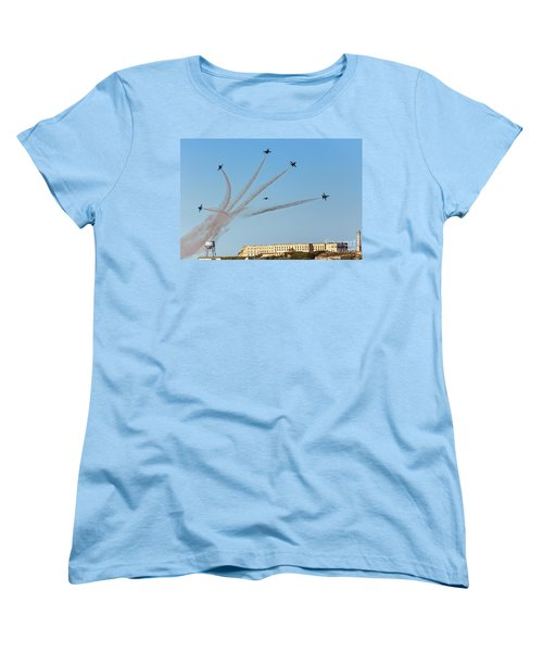 Angels Over Alcatraz Women's T-Shirt (Standard Cut) by Kate Brown