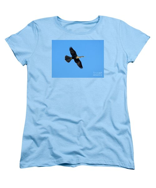 Anhinga Female Flying Women's T-Shirt (Standard Cut) by Anthony Mercieca