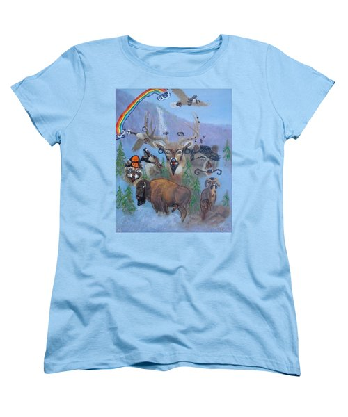 Women's T-Shirt (Standard Cut) featuring the painting Animal Equality by Lisa Piper