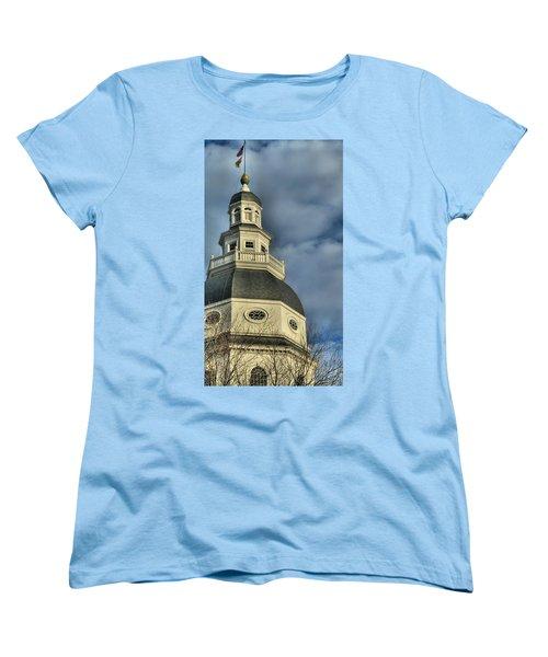 Annapolis Statehouse Women's T-Shirt (Standard Cut) by Jennifer Wheatley Wolf