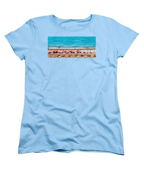 Another Day In Paradise-positano-digitized Women's T-Shirt (Standard Cut) by Jennie Breeze