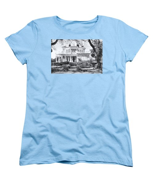 Anthemion At 4631 St Charles Ave. New Orleans Sketch Women's T-Shirt (Standard Cut) by Kathleen K Parker