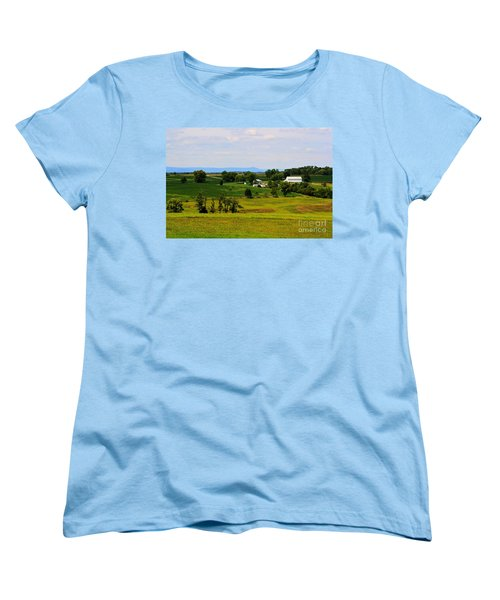 Antietam Battlefield And Mumma Farm Women's T-Shirt (Standard Cut) by Patti Whitten