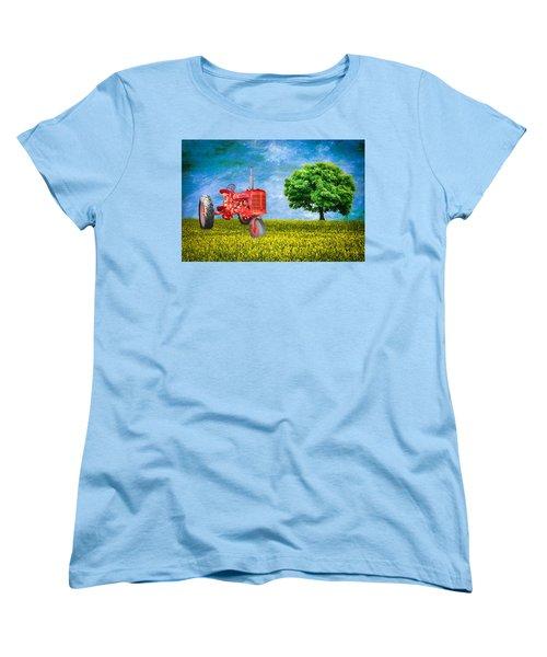 Antique Farmall Tractor Women's T-Shirt (Standard Cut) by Fred Larson