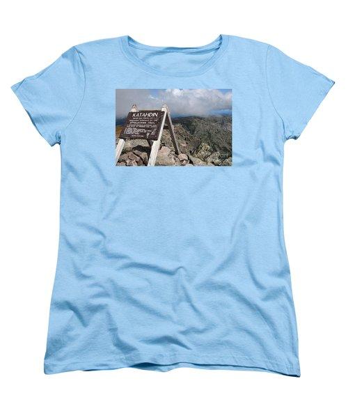 Appalachian Trail Mount Katahdin Women's T-Shirt (Standard Cut) by Glenn Gordon