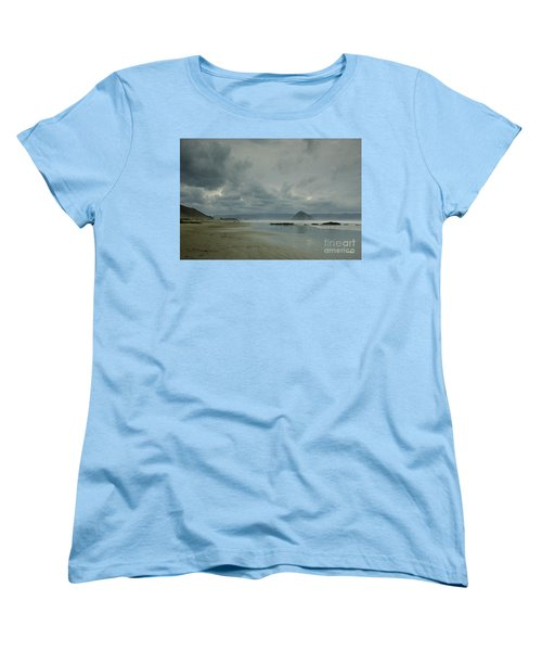 Approaching Storm - Morro Rock Women's T-Shirt (Standard Cut) by Terry Garvin