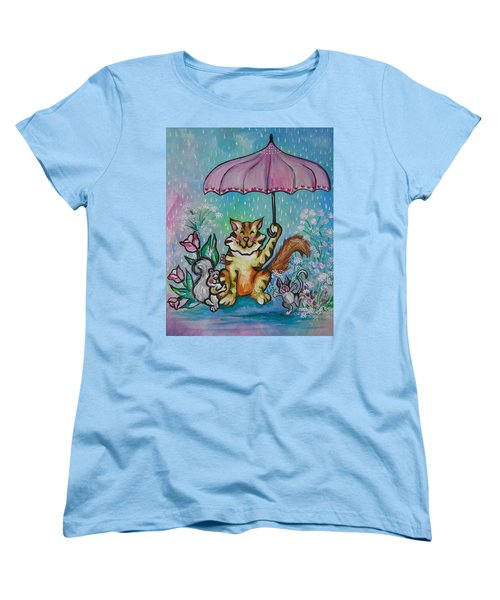Women's T-Shirt (Standard Cut) featuring the painting April Showers by Leslie Manley