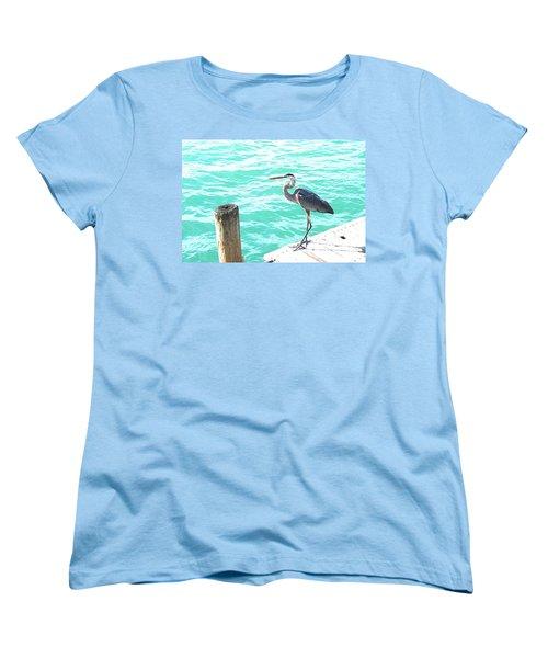 Aqua Bliss Women's T-Shirt (Standard Cut) by Margie Amberge
