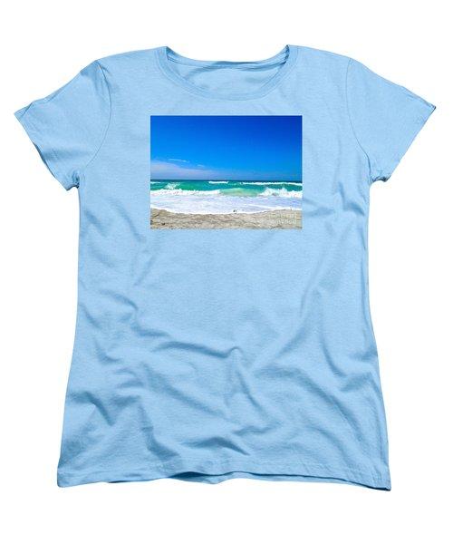 Aqua Surf Women's T-Shirt (Standard Cut) by Margie Amberge