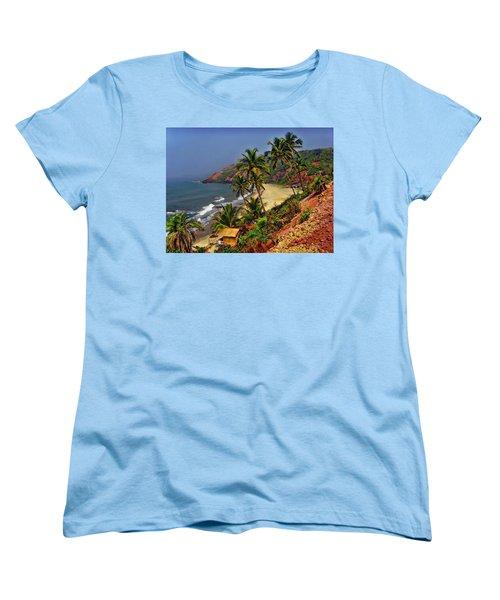 Arambol Beach India Women's T-Shirt (Standard Cut) by Anthony Dezenzio