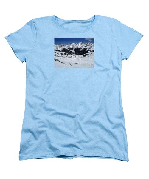 Arapahoe Basin June 2  Women's T-Shirt (Standard Cut) by Fiona Kennard