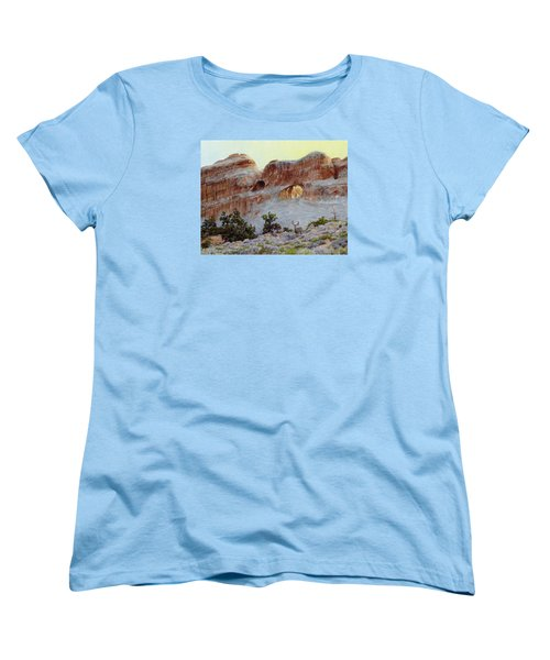 Arches Mulie Women's T-Shirt (Standard Cut) by Bruce Morrison
