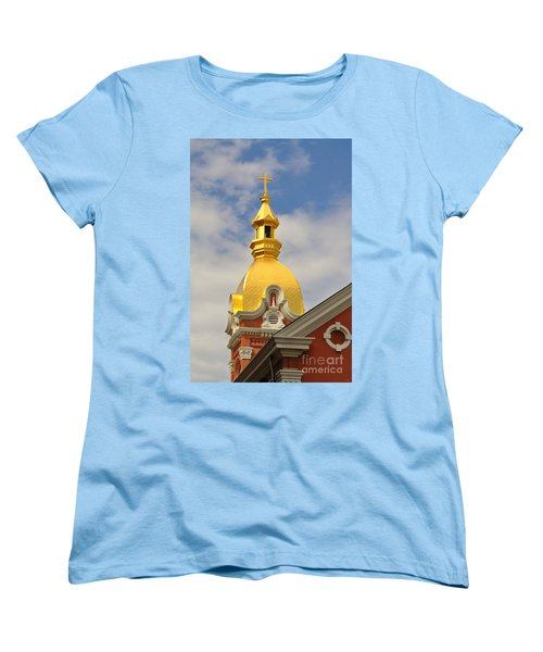 Architecture - Golden Cross Women's T-Shirt (Standard Cut) by Liane Wright
