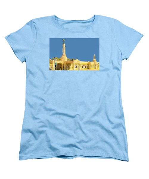 Women's T-Shirt (Standard Cut) featuring the photograph Art Deco Gas Station by Janette Boyd