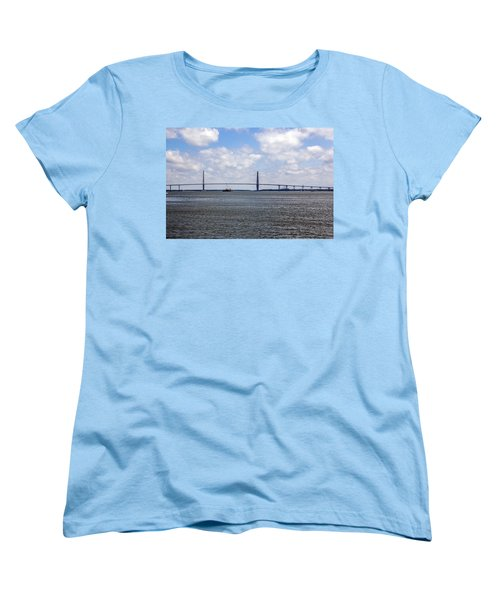 Women's T-Shirt (Standard Cut) featuring the photograph Arthur Ravenel Bridge by Sennie Pierson