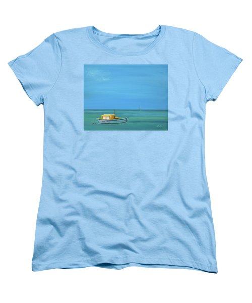 Women's T-Shirt (Standard Cut) featuring the painting Aruba by Donna Tuten