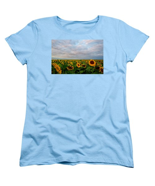 Women's T-Shirt (Standard Cut) featuring the photograph As Far As The Eye Can See by Ronda Kimbrow