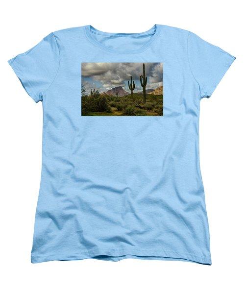 As The Clouds Pass By  Women's T-Shirt (Standard Cut) by Saija  Lehtonen