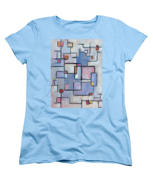 Asbtract Line Series Women's T-Shirt (Standard Cut) by Patricia Cleasby