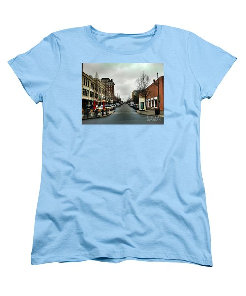 Asheville North Carolina Women's T-Shirt (Standard Cut) by Janice Spivey