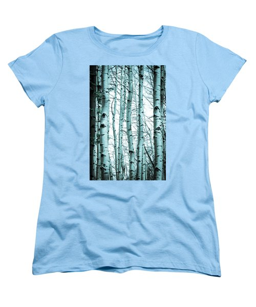 Aspen Blues Women's T-Shirt (Standard Cut) by Debbie Karnes