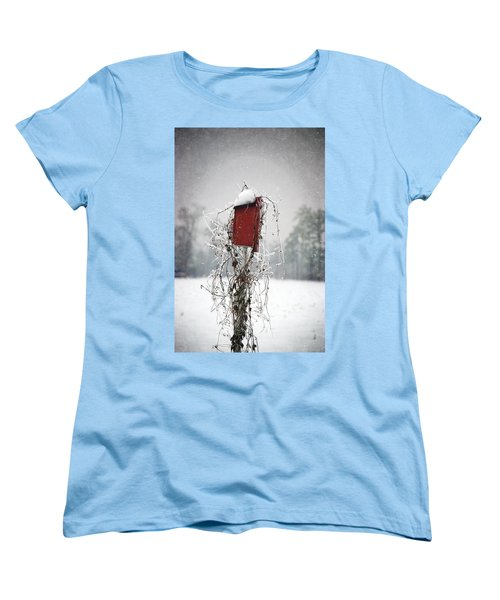 At Home In The Snow Women's T-Shirt (Standard Cut) by Beverly Stapleton