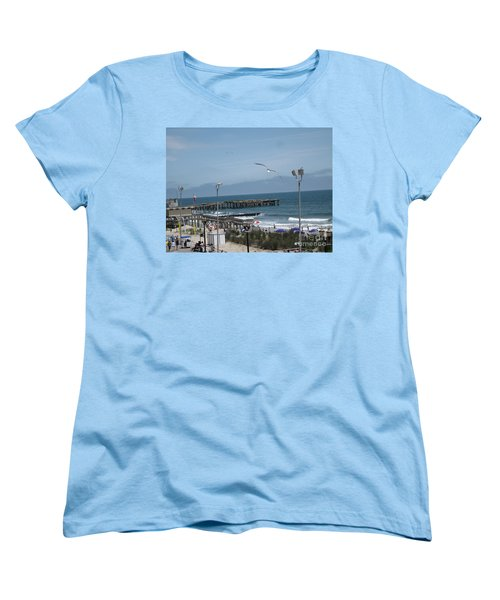 Women's T-Shirt (Standard Cut) featuring the photograph Atlantic City 2009 by HEVi FineArt