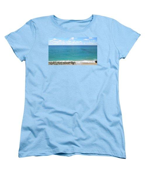 Atlantic Ocean In South Florida Women's T-Shirt (Standard Cut) by Ron Davidson