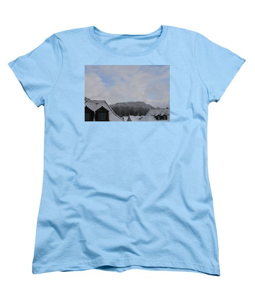 Women's T-Shirt (Standard Cut) featuring the photograph Attic Windows Open To The Sky by Felicia Tica
