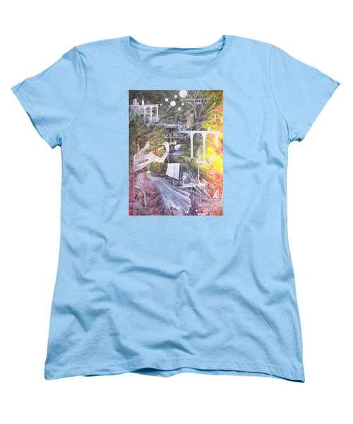 Women's T-Shirt (Standard Cut) featuring the painting Aubry's Nocturne by Jackie Mueller-Jones