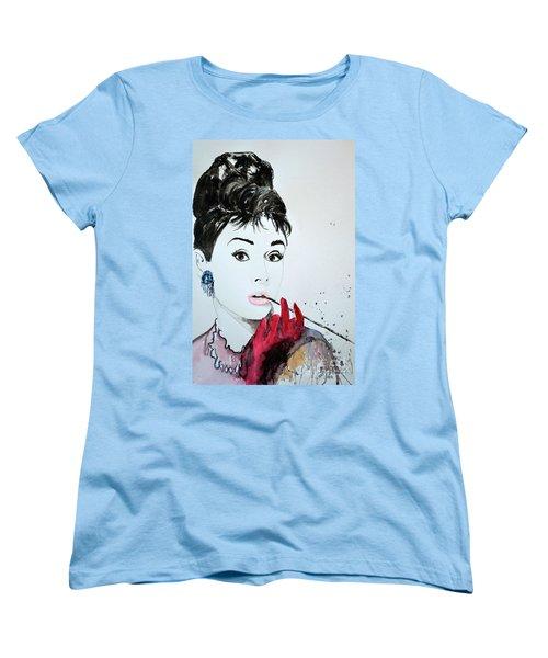 Audrey Hepburn - Original Women's T-Shirt (Standard Cut) by Ismeta Gruenwald