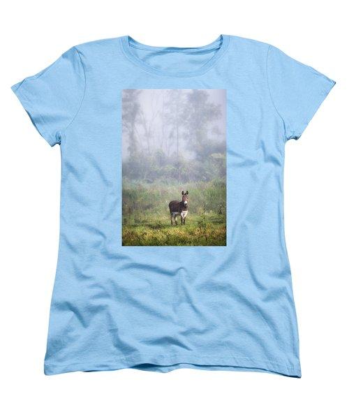 August Morning - Donkey In The Field. Women's T-Shirt (Standard Cut)