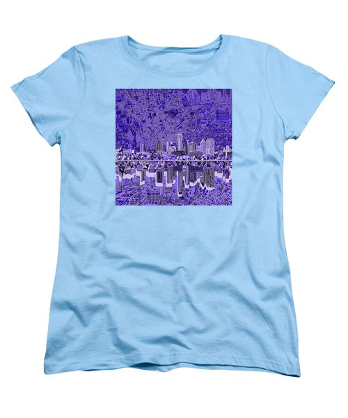 Austin Texas Skyline 4 Women's T-Shirt (Standard Cut) by Bekim Art
