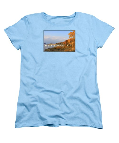 Autumn At Cold Spring Harbor Women's T-Shirt (Standard Cut) by Dora Sofia Caputo Photographic Art and Design
