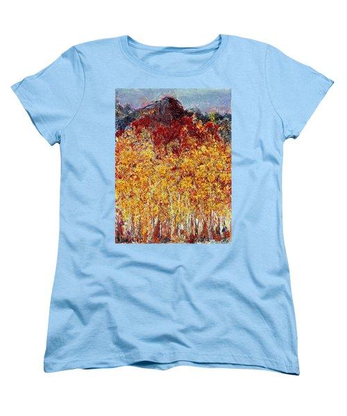 Autumn In The Pioneer Valley Women's T-Shirt (Standard Cut) by Regina Valluzzi