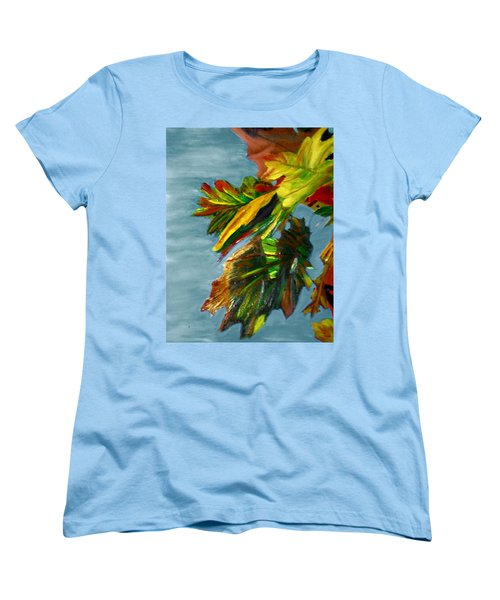 Women's T-Shirt (Standard Cut) featuring the painting Autumn Leaves by Michael Daniels