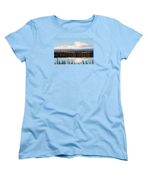 Autumn View Of Mt. Drum - Alaska Women's T-Shirt (Standard Cut) by Juergen Weiss