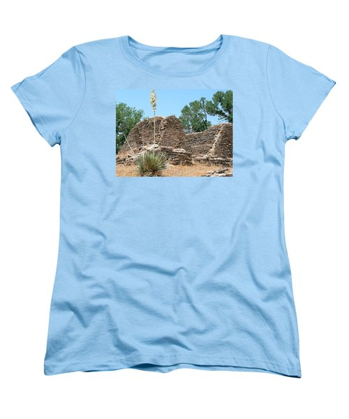 Aztec Ruins National Monument Women's T-Shirt (Standard Cut) by Laurel Powell